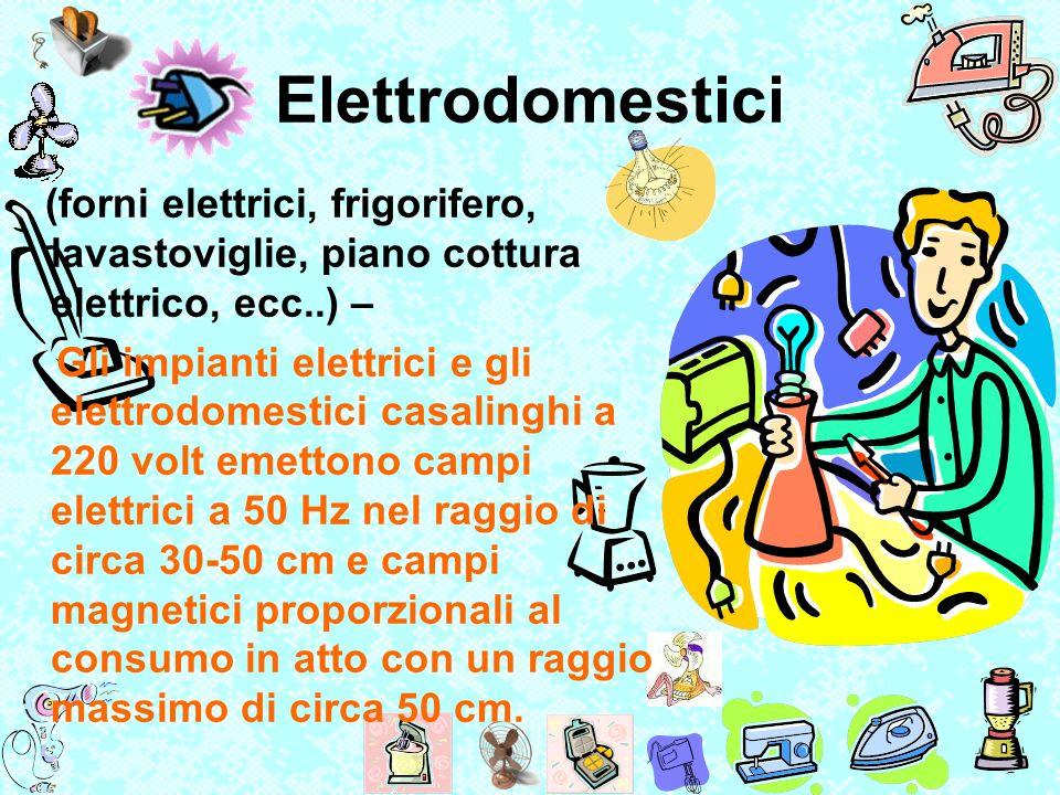 Elettrodomestici (forni elettrici, frigorifero, lavastoviglie, piano cottura elettrico, ecc..) –