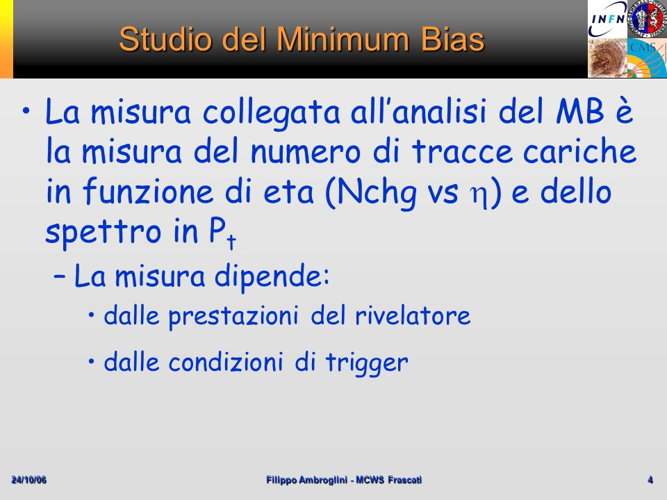Studio del Minimum Bias