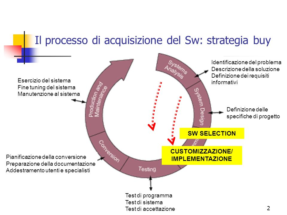 Il processo di acquisizione del Sw: strategia buy
