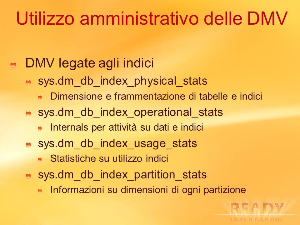 Utilizzo amministrativo delle DMV