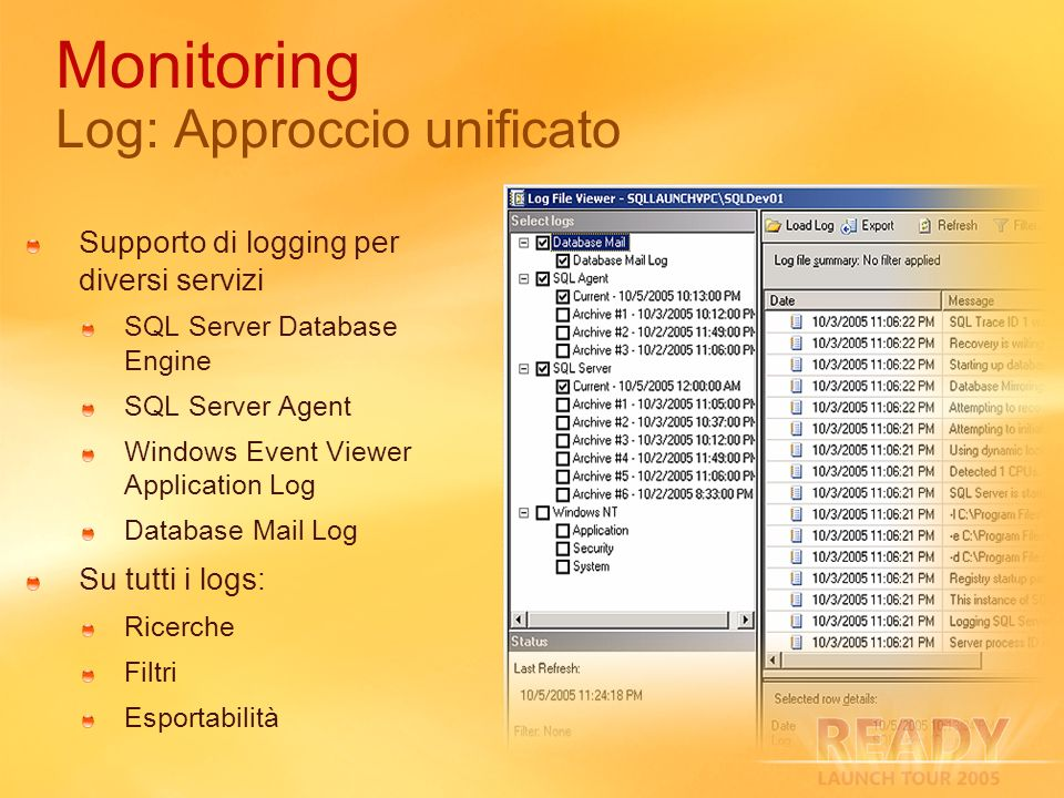 Monitoring Log: Approccio unificato