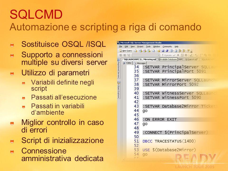 SQLCMD Automazione e scripting a riga di comando
