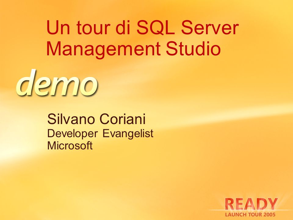 Un tour di SQL Server Management Studio