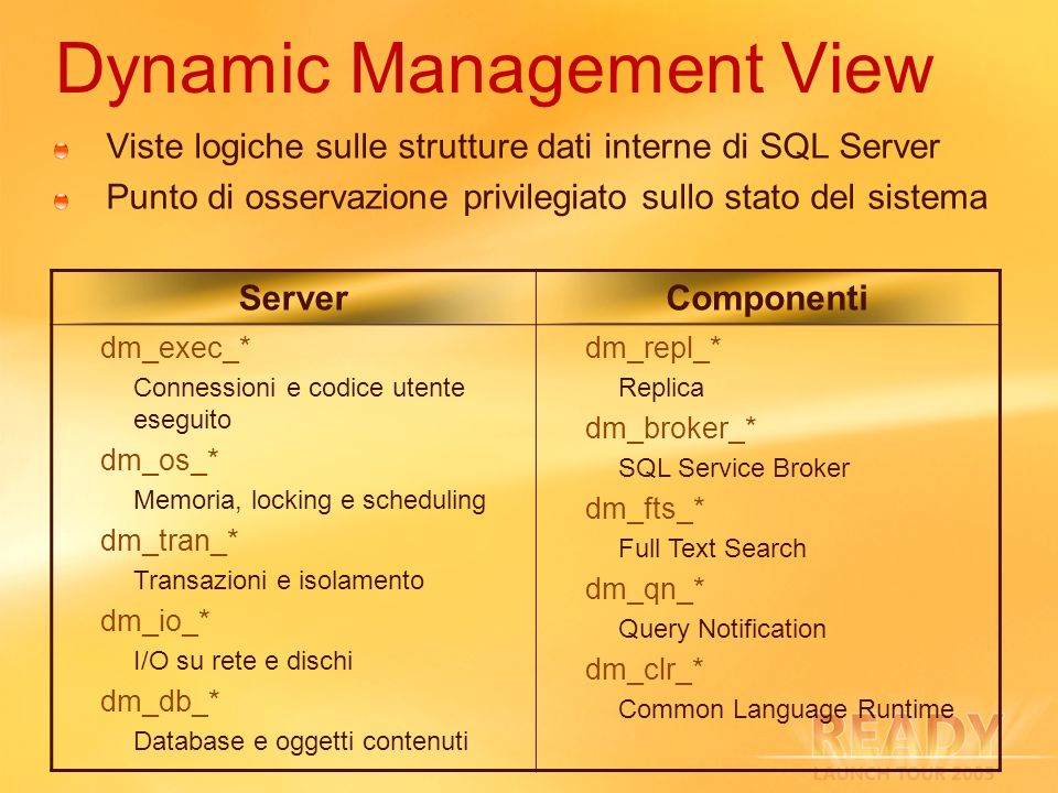 Dynamic Management View