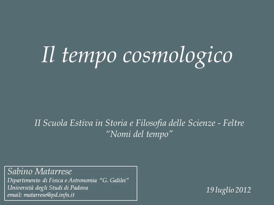 II Scuola Estiva in Storia e Filosofia delle Scienze - Feltre