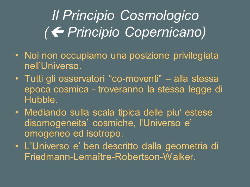 Il Principio Cosmologico ( Principio Copernicano)