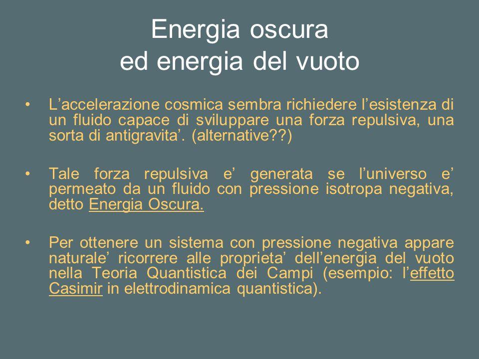 Energia oscura ed energia del vuoto