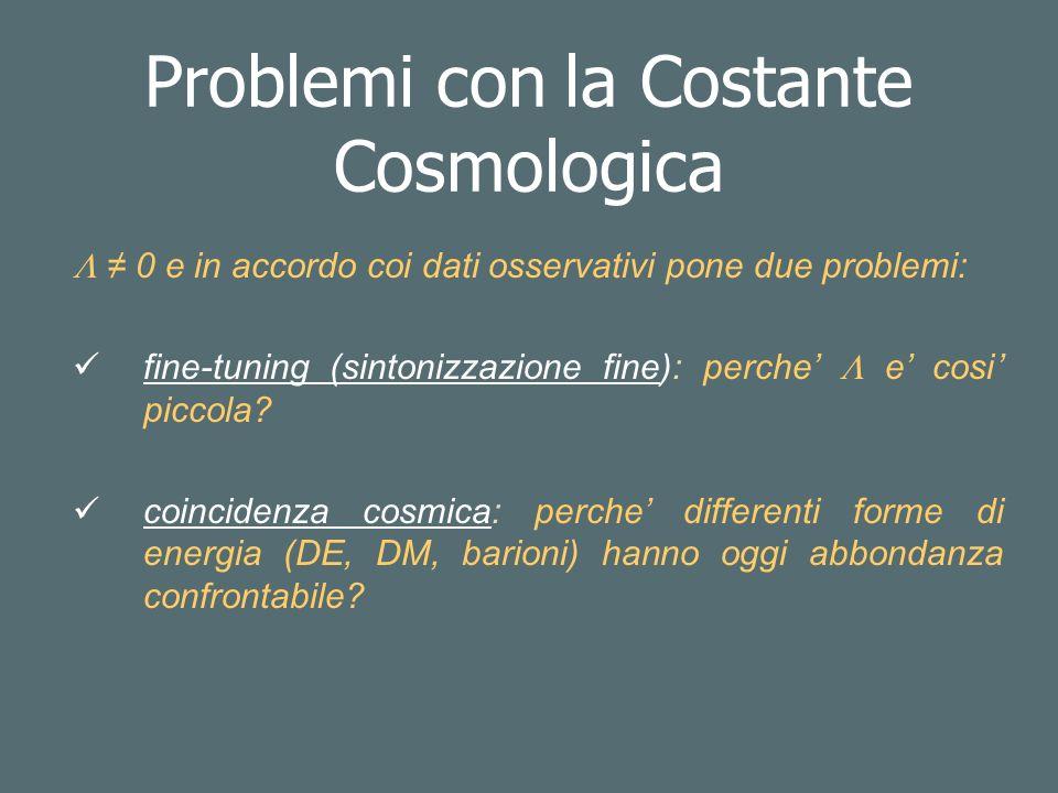 Problemi con la Costante Cosmologica