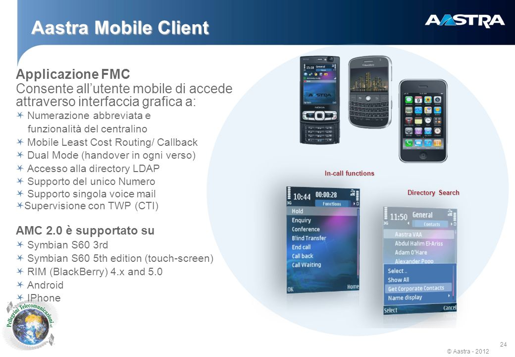 Aastra Mobile Client Applicazione FMC