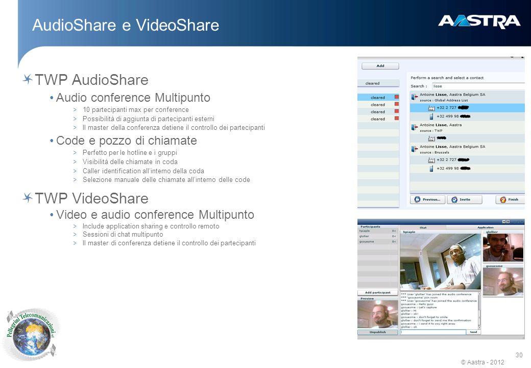 AudioShare e VideoShare