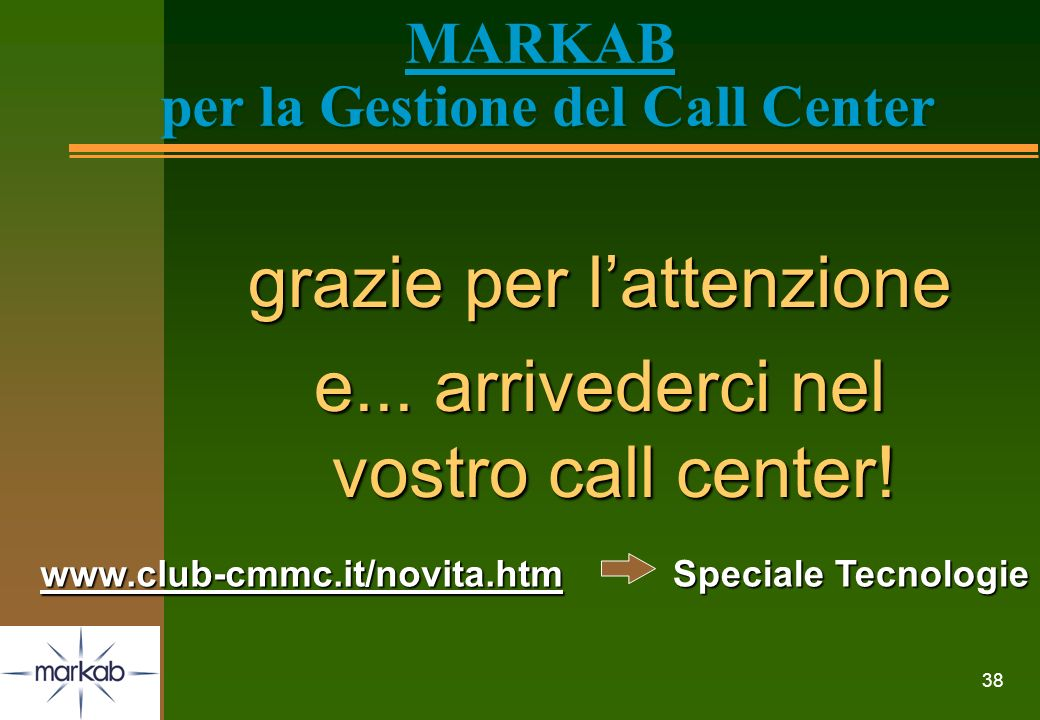 MARKAB per la Gestione del Call Center