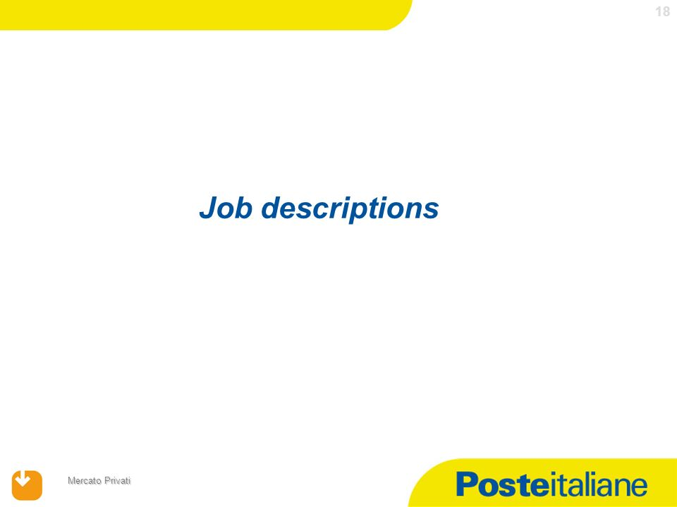 Job descriptions 18
