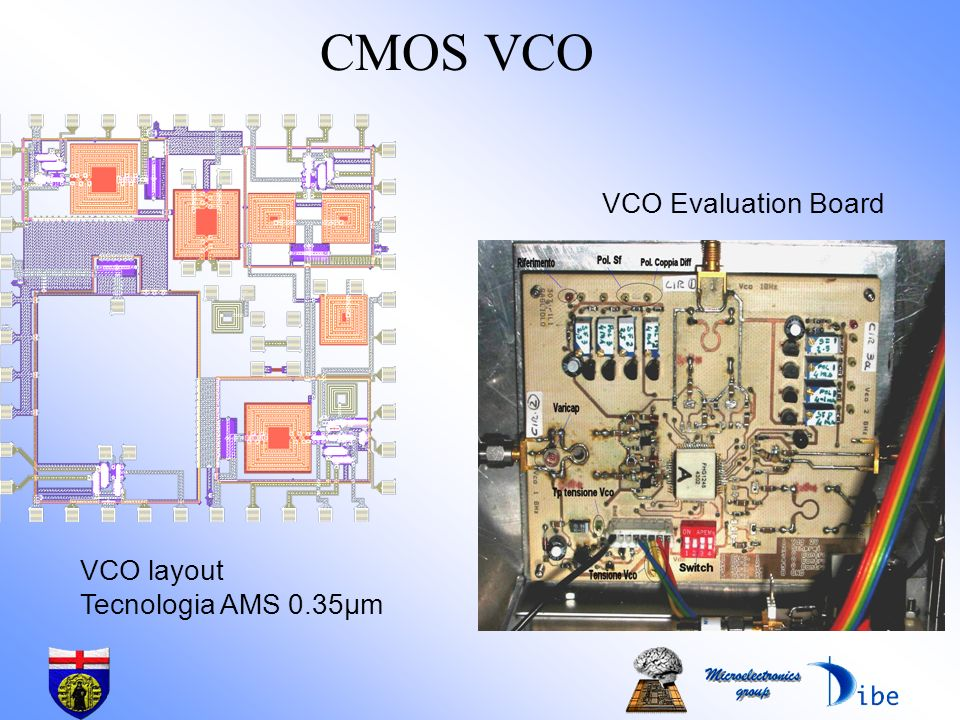 CMOS VCO VCO Evaluation Board VCO layout Tecnologia AMS 0.35µm