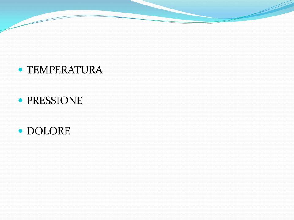 TEMPERATURA PRESSIONE DOLORE