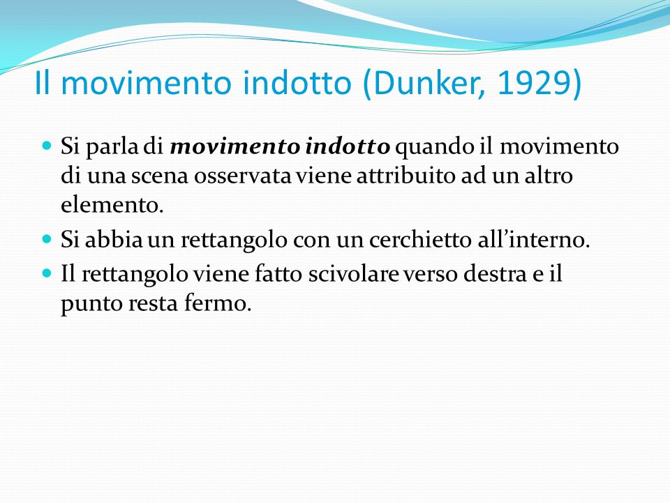 Il movimento indotto (Dunker, 1929)