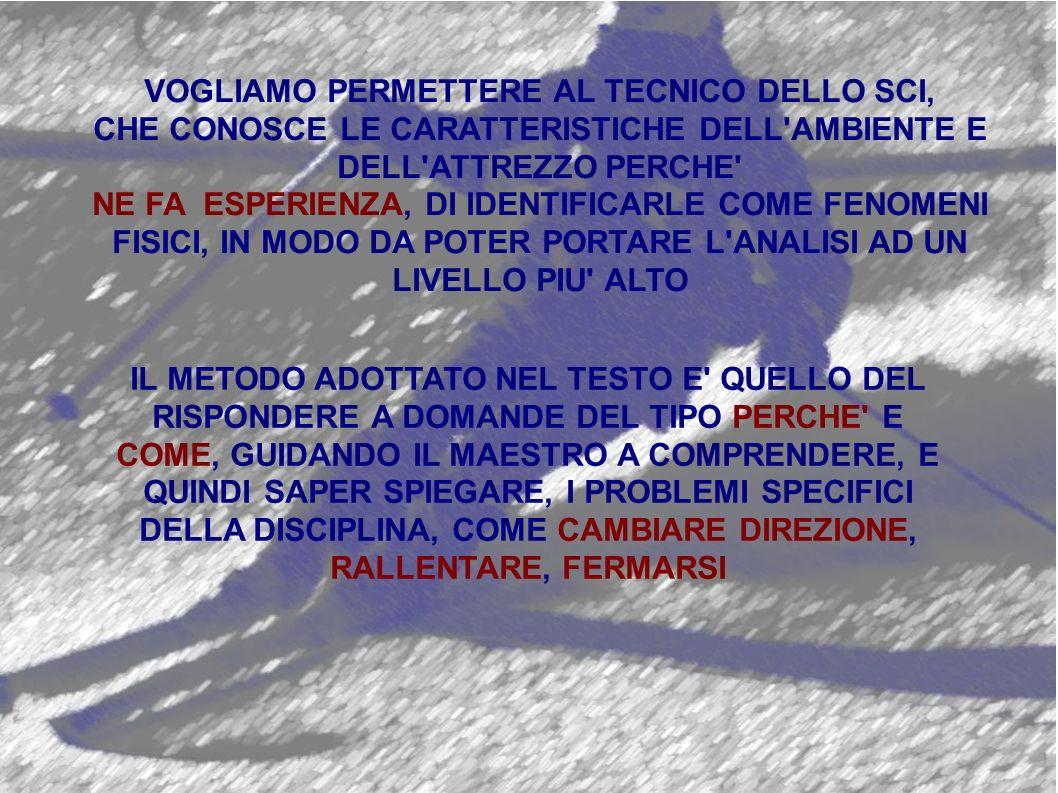VOGLIAMO PERMETTERE AL TECNICO DELLO SCI,