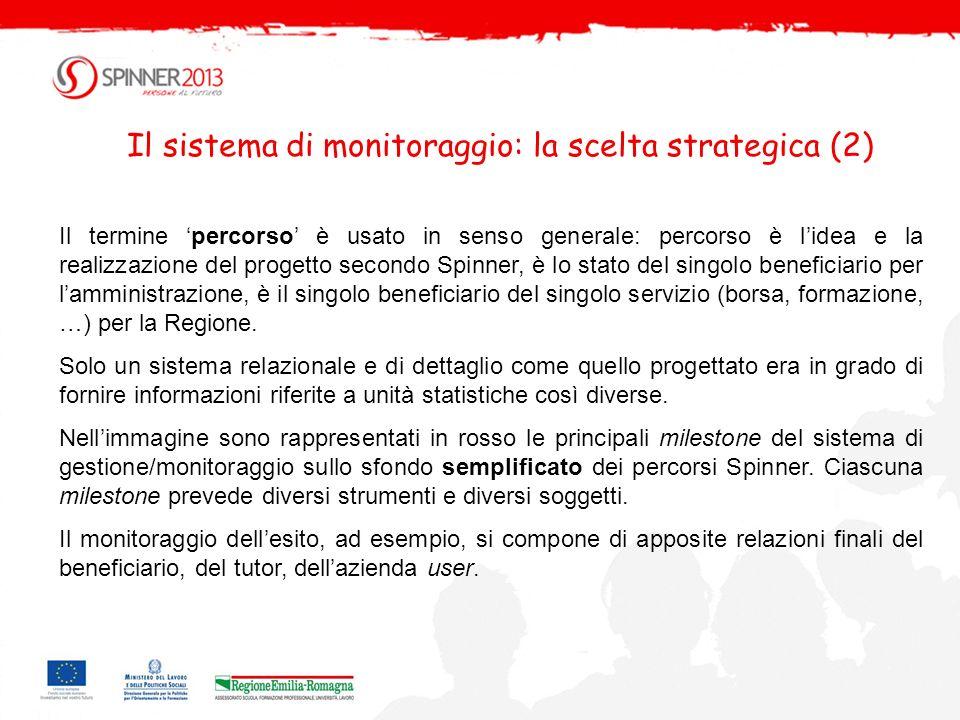 Il sistema di monitoraggio: la scelta strategica (2)