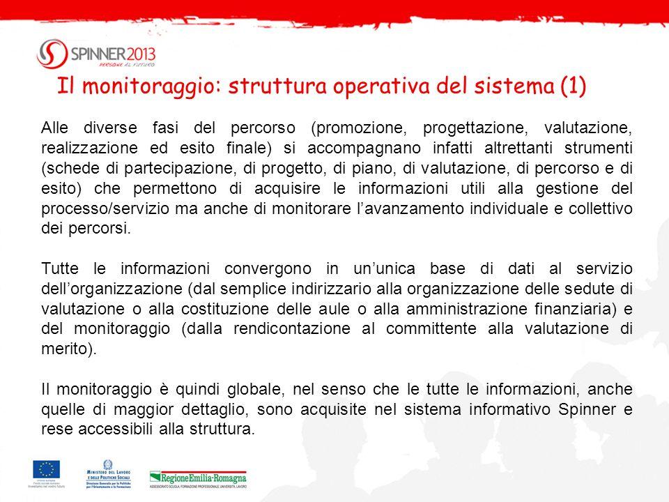 Il monitoraggio: struttura operativa del sistema (1)