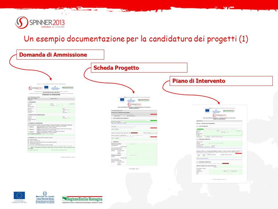 Un esempio documentazione per la candidatura dei progetti (1)