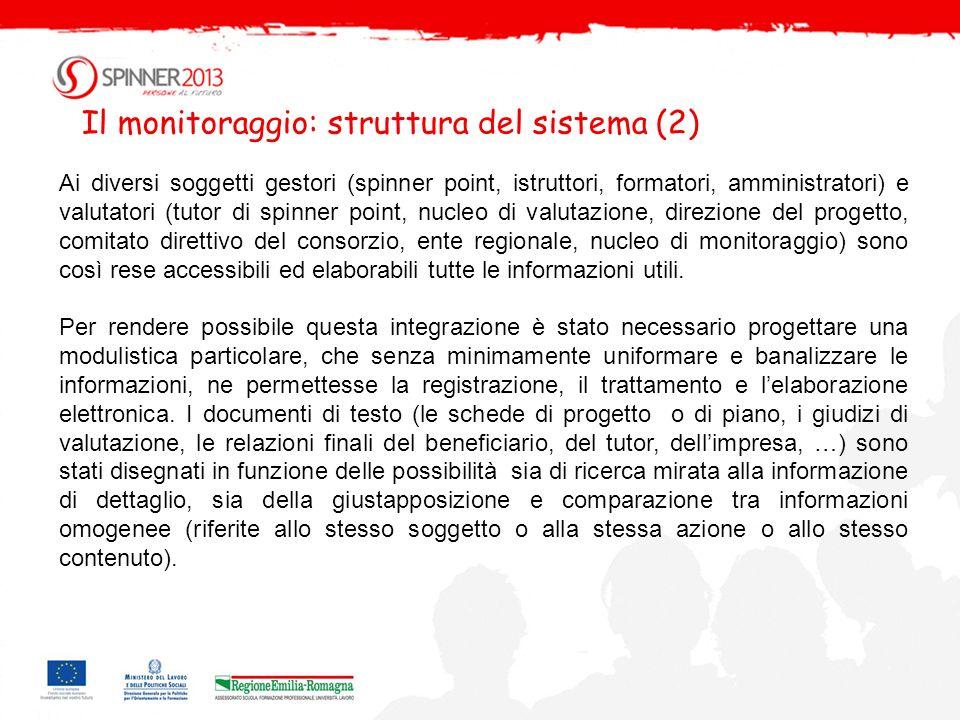 Il monitoraggio: struttura del sistema (2)