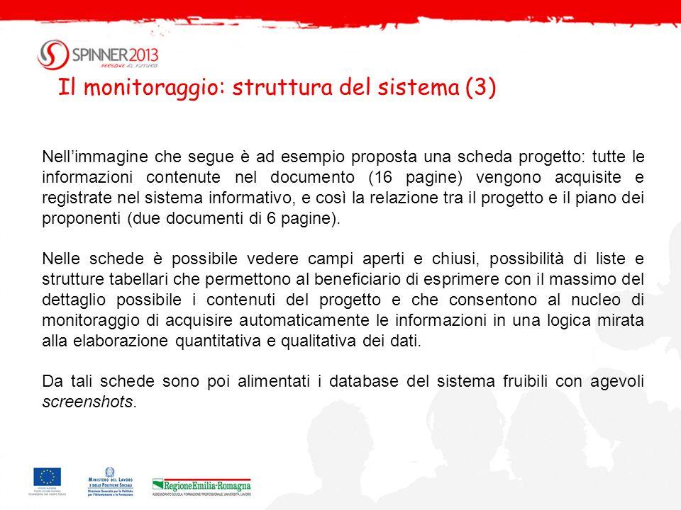 Il monitoraggio: struttura del sistema (3)