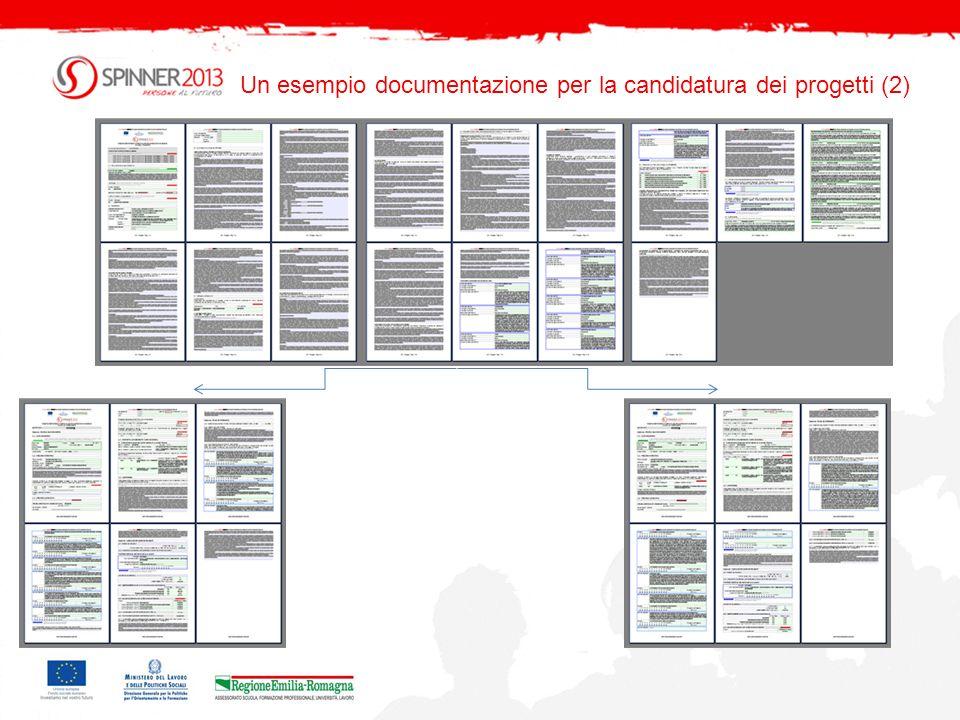 Un esempio documentazione per la candidatura dei progetti