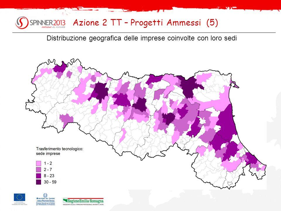 Distribuzione geografica delle imprese coinvolte con loro sedi