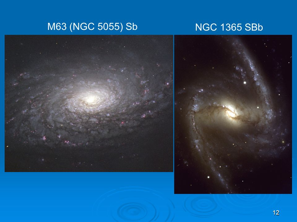 M63 (NGC 5055) Sb NGC 1365 SBb