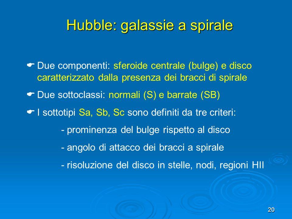 Hubble: galassie a spirale