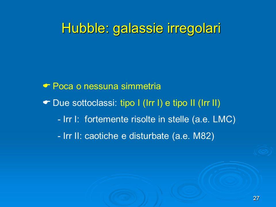 Hubble: galassie irregolari