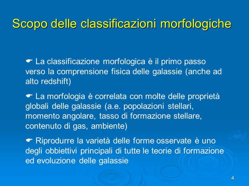 Scopo delle classificazioni morfologiche