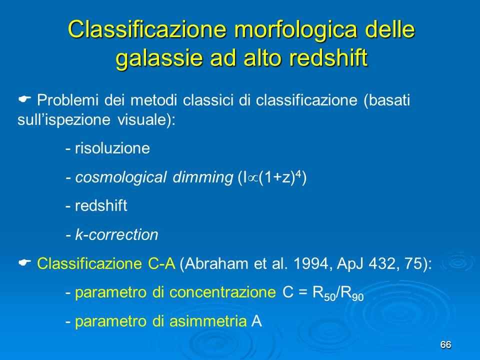Classificazione morfologica delle galassie ad alto redshift