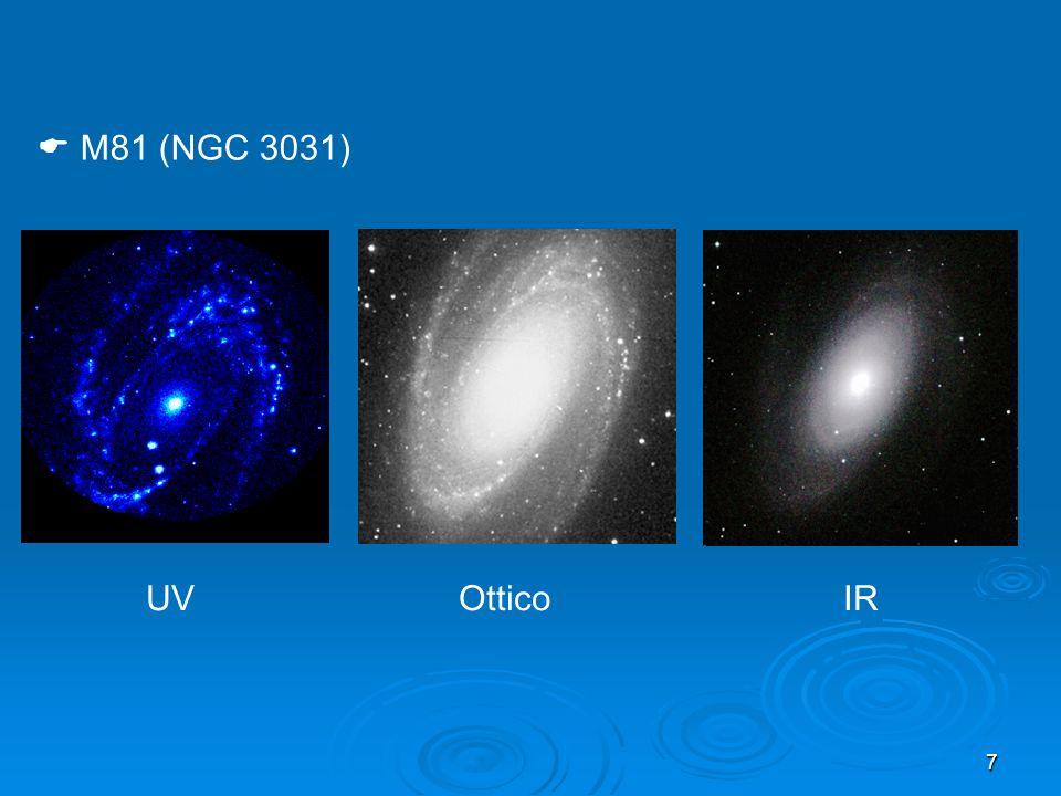 M81 (NGC 3031) UV Ottico IR