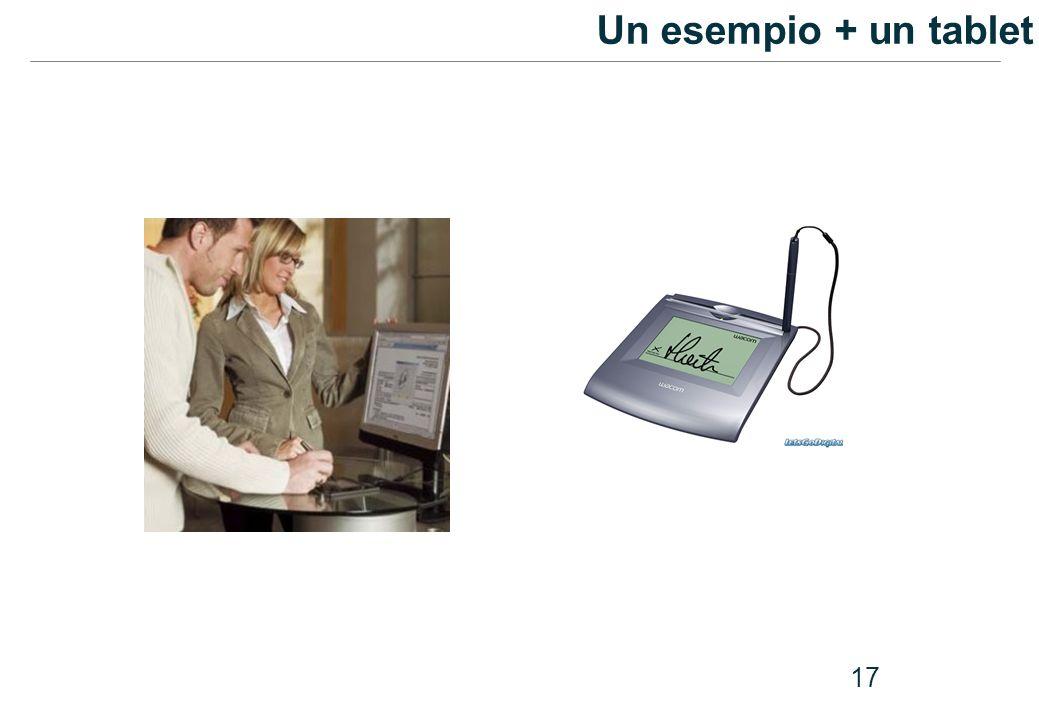 Un esempio + un tablet