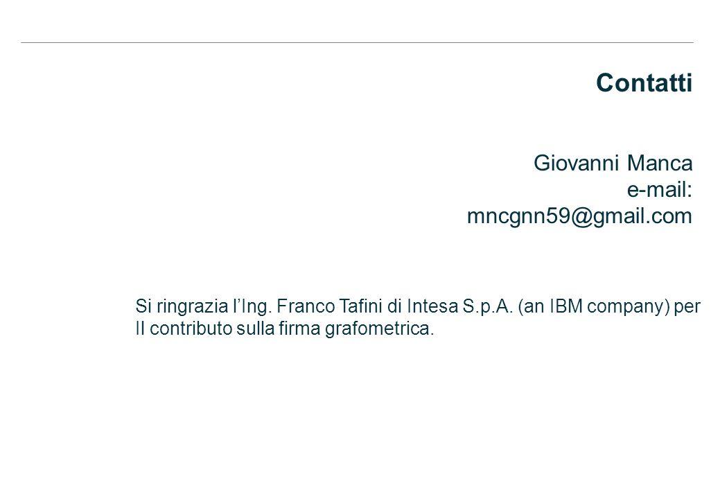 Contatti Giovanni Manca e-mail: mncgnn59@gmail.com