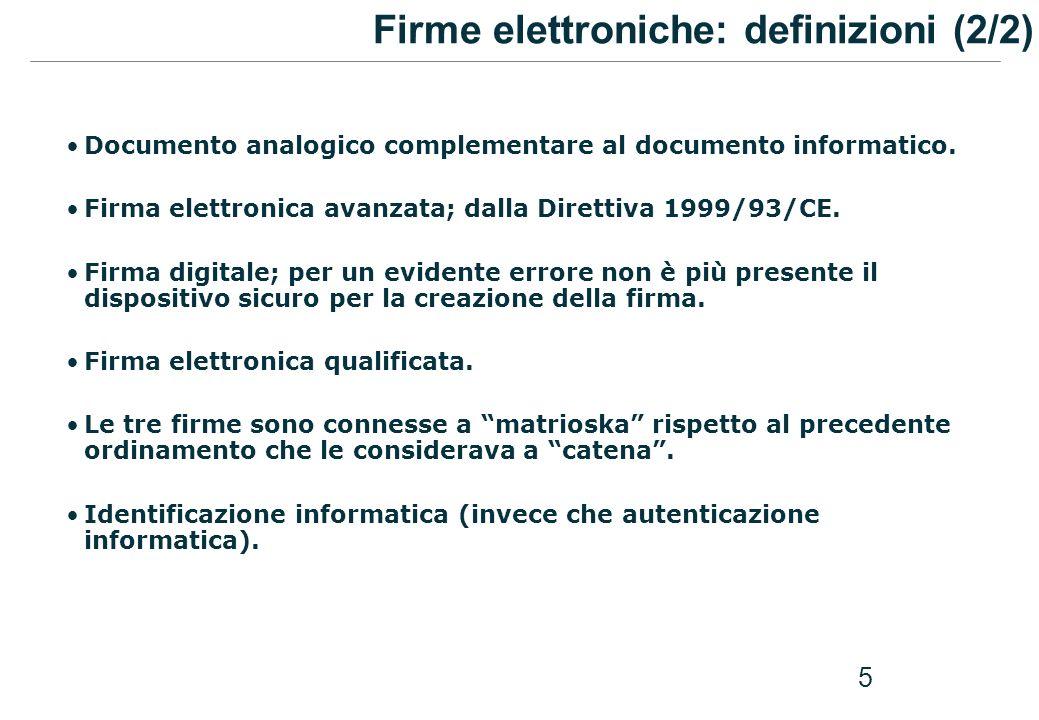 Firme elettroniche: definizioni (2/2)