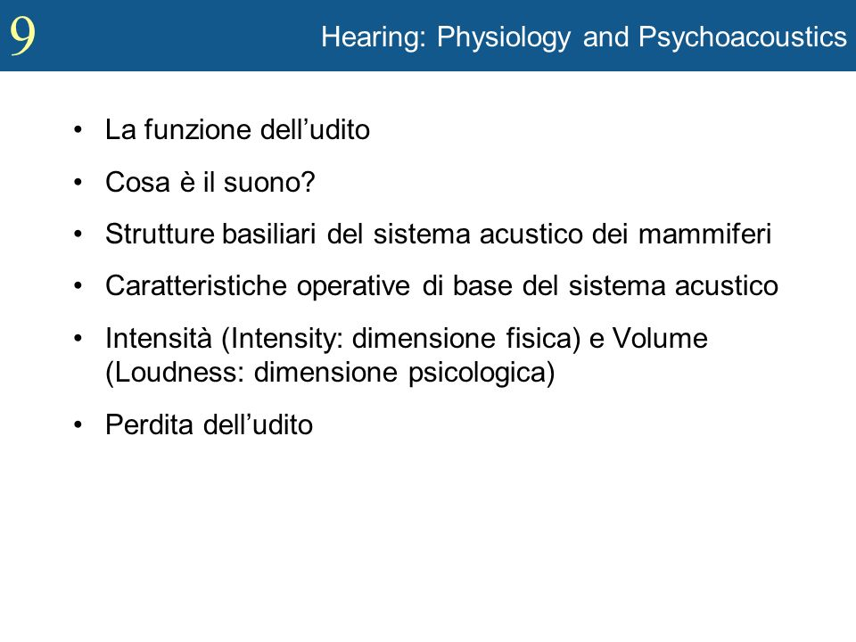 Hearing: Physiology and Psychoacoustics
