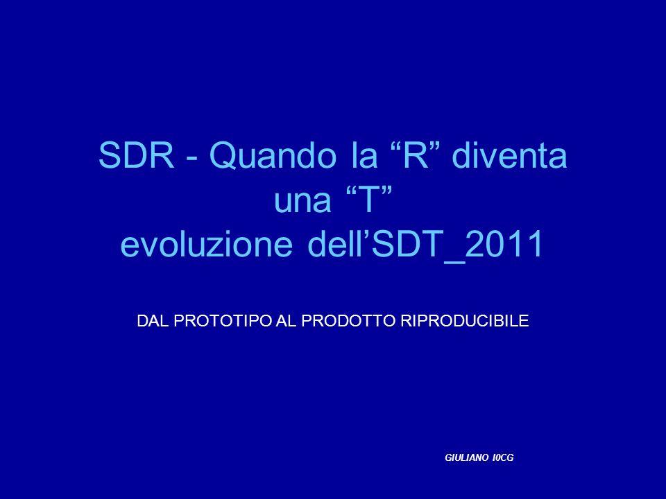 SDR - Quando la R diventa una T evoluzione dell'SDT_2011