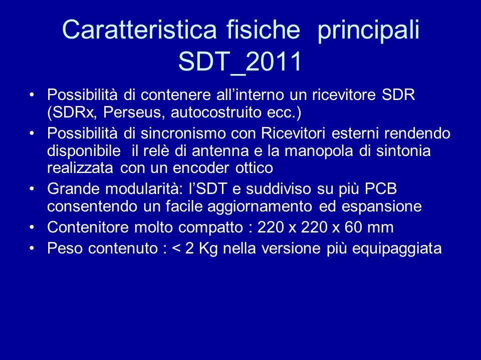 Caratteristica fisiche principali SDT_2011