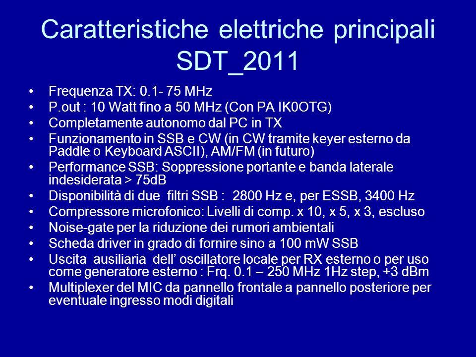 Caratteristiche elettriche principali SDT_2011