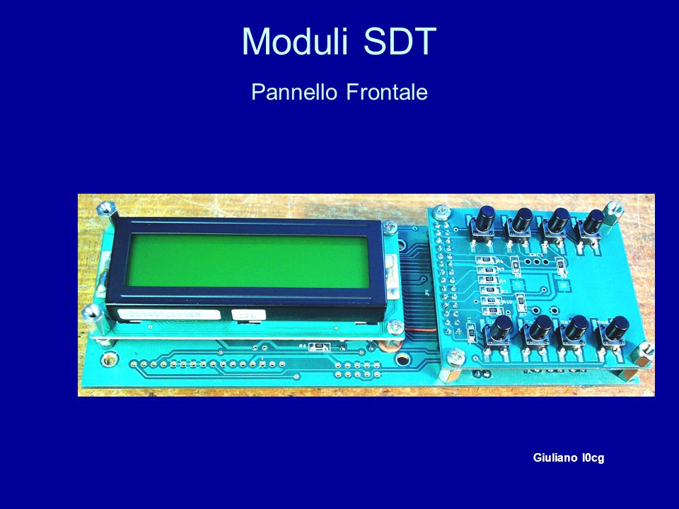 Moduli SDT Pannello Frontale