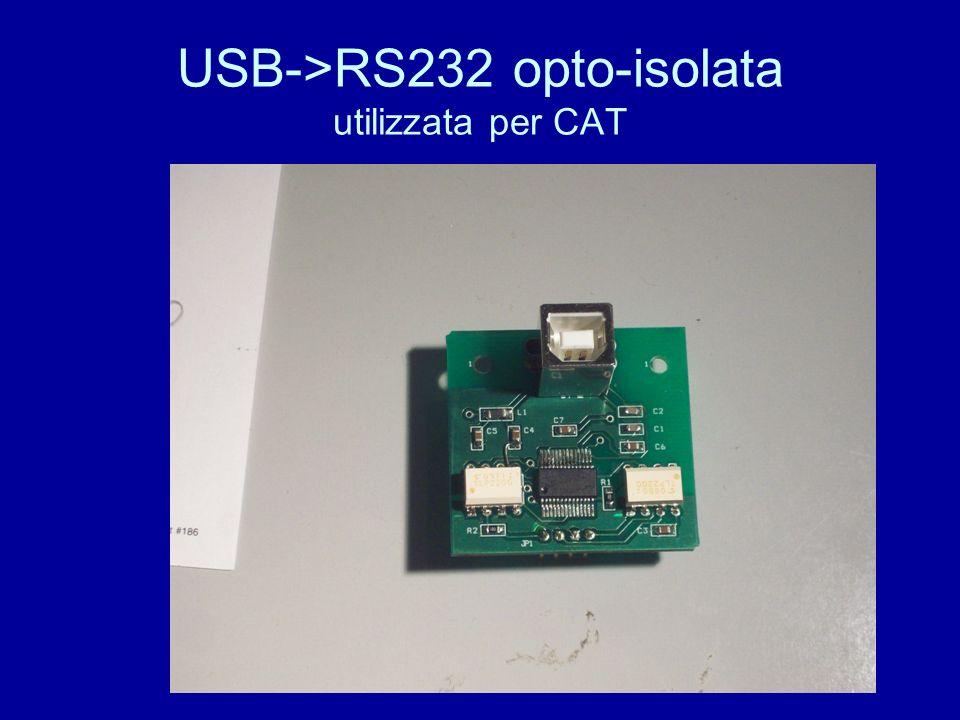 USB->RS232 opto-isolata utilizzata per CAT