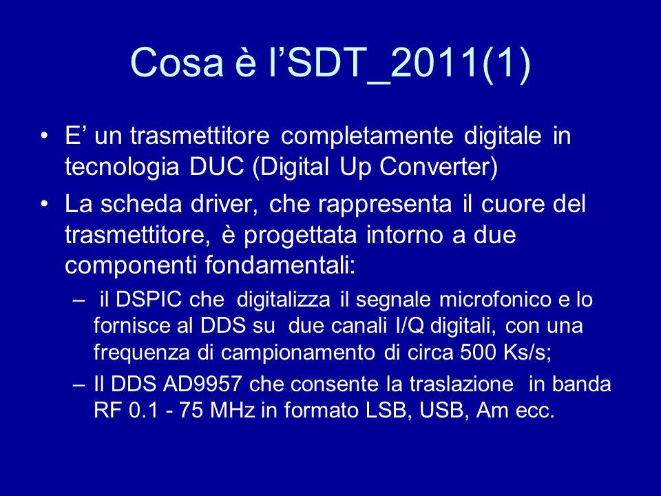 Cosa è l'SDT_2011(1) E' un trasmettitore completamente digitale in tecnologia DUC (Digital Up Converter)