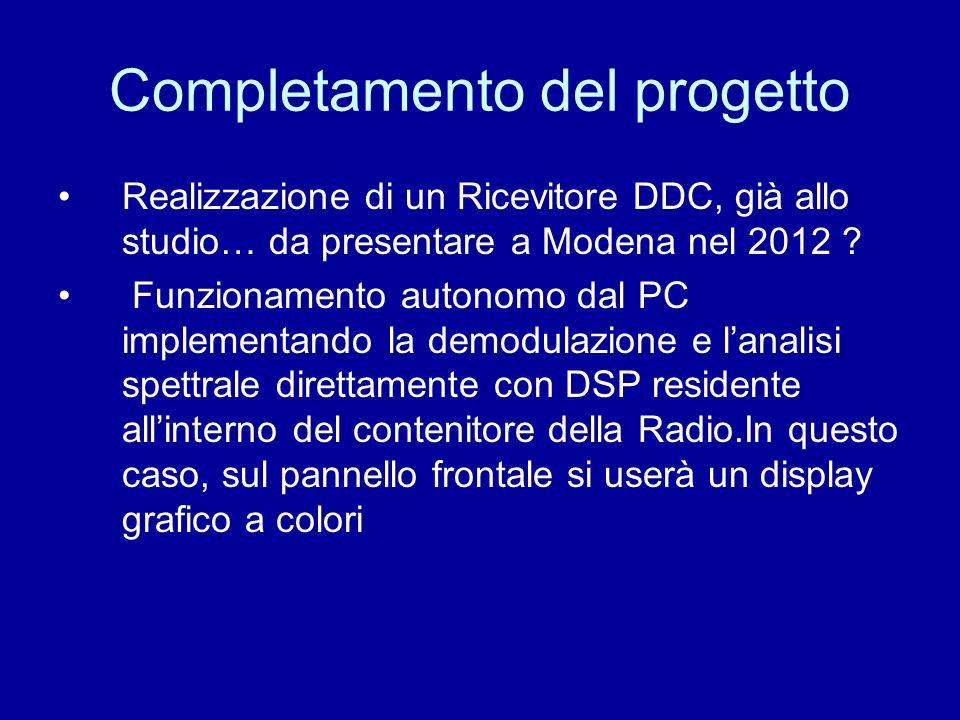 Completamento del progetto