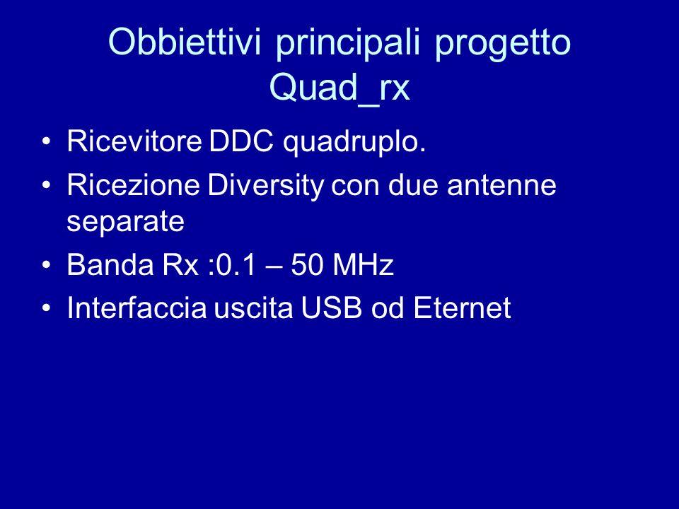 Obbiettivi principali progetto Quad_rx