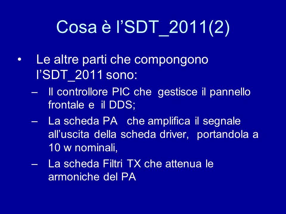 Cosa è l'SDT_2011(2) Le altre parti che compongono l'SDT_2011 sono: