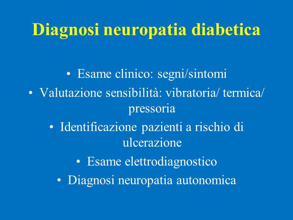 Diagnosi neuropatia diabetica