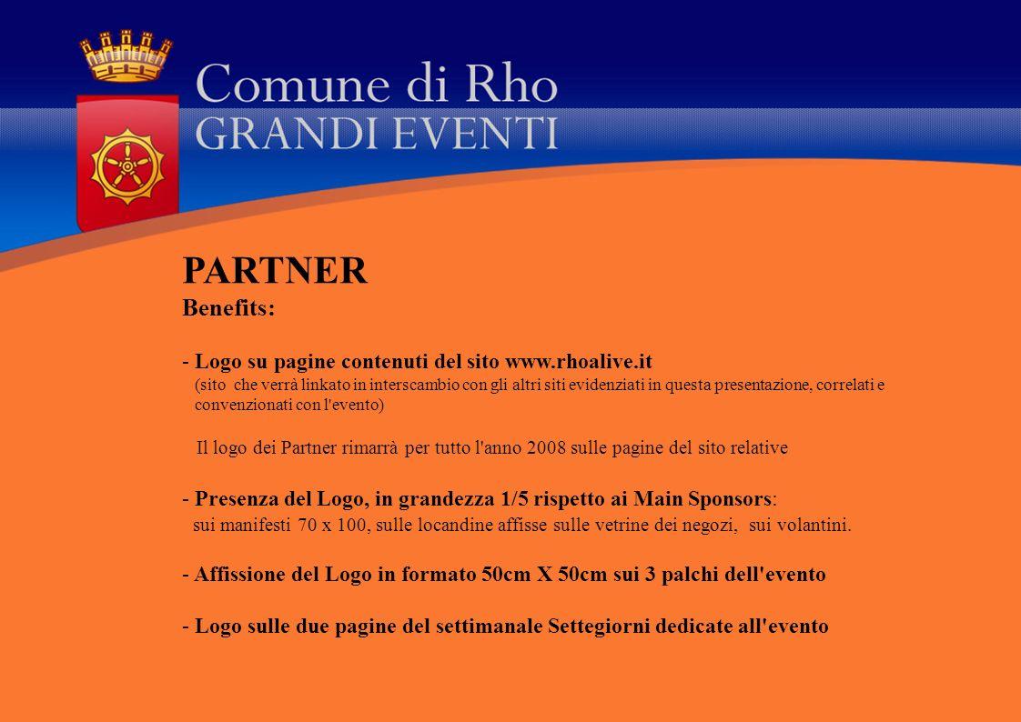 PARTNER Benefits: Logo su pagine contenuti del sito www.rhoalive.it