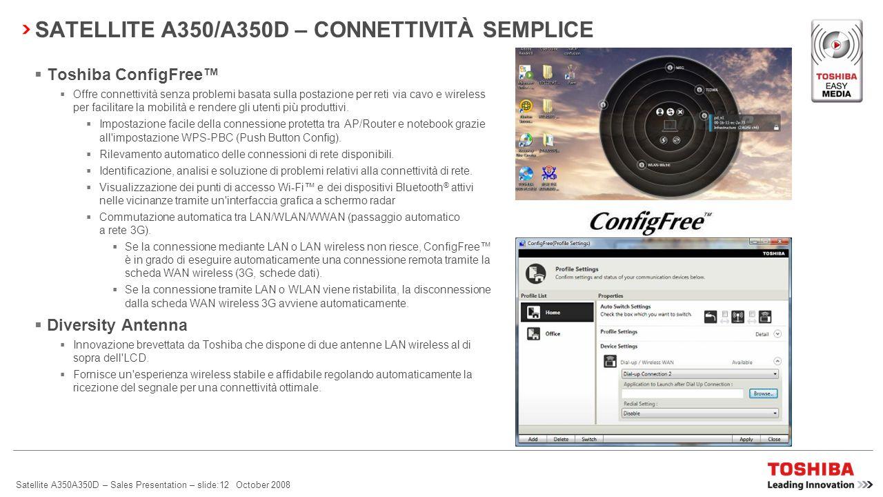 SATELLITE A350/A350D – CONNETTIVITÀ SEMPLICE