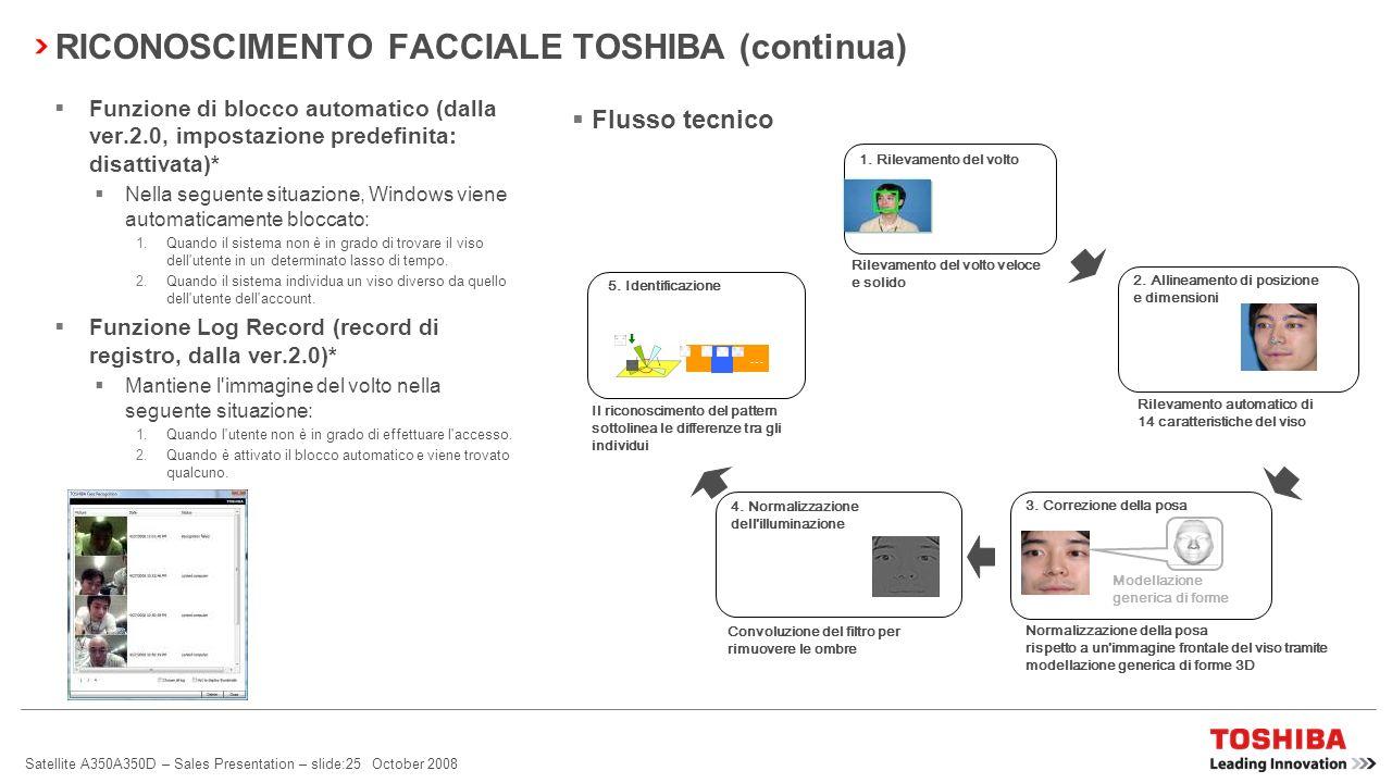 RICONOSCIMENTO FACCIALE TOSHIBA (continua)